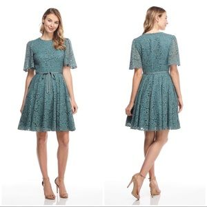 Gal Meets Glam Harper Lace Fit & Flare Dress